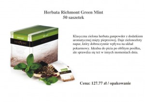 Herbata Richmont Green Mint - 50 saszetek
