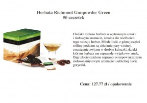 Herbata Richmont Gunpowder Green - 50 saszetek