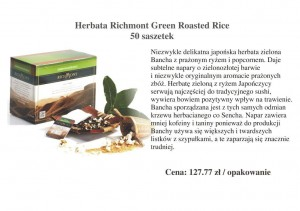 Herbata Richmont Green Roasted Rice - 50 saszetek
